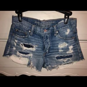 American Eagle Vintage High-Rise Festival Shorts